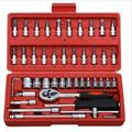 Car maintenance kit tools socket wrench combination hardware tools small 46 pieces set wrench combination sets of heads 46 Piece Auto Set-Red Box