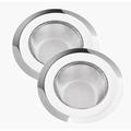 Stainless Steel Mesh Drain Filter Kitchen Sink Strainer Large 4.5 inch Wide Rim 4 pcs