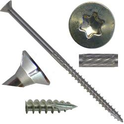 "#10 x 4"" Silver Star Stainless Steel Wood Screw Torx/Star Drive Head ( Bulk Box) - 305 Stainless Steel Torx/Star Drive Wood Screws (1000 Screws)"
