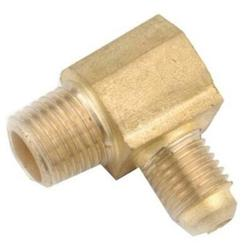 """2 PK Anderson Metals 1/2"""" Flare x 3/8"""" Male Iron Pipe Thread Elbow Lead Free"""