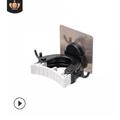 Puloru Multi -functional Traceless Mop Rack, No Drilling Mop Hook, Broom Rack, Shower Room Accessory