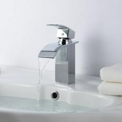 Jeobest Single Handle Bathroom Sink Faucet - Bathroom Faucet Single Handle Modern Brass Lavatory Faucet Single Lever Bathroom Sink Faucet One Hole Basin Faucet Mixer Tap