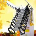 INTSUPERMAI Folding Loft Ladder Stairs Retractable Wall Mounted Loft Attic Wall Ladder Ceiling Pulldown Telescoping Ladder Black-white Carbon Steel