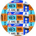 Southwire 63948426 10/3 100' Orange with Ground Romex Brand SIMpull Residential Indoor Electrical Wire Type NM-B