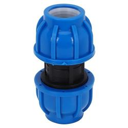 Kritne 4Pcs PE Plastic 32mm to 32mm Straight Connector Water Pipe Adapter Fitting Accessories, Water Pipe Connector, Water Connector