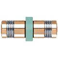 CRL SDK118GP Gold Plated Knob/Chrome Ring - Flush Ring Style Back-to-Back Shower Door Knobs