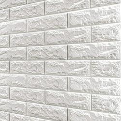 Brick Wallpaper-3D Wall Panels Peel and Stick Self-Adhesive Real Bricks Effect Wallpapers for Kids Room Bathroom Living Room TV Walls Sofa Background 20 Packs