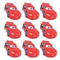 Skert Boys and Girls Cartoon Red Lightning Car Furniture Drawer Pull Knob Cabinet Kitchen Handle Kids Bedroom Cabinet Dresser Knobs Pulls Pack of 10