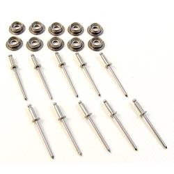 Stainless Steel Snap Studs with Stainless Steel Rivets, 10 Pc. Set, 10 Pc. Stainless Steel Snap Stud Set w/ Stainless Steel Rivets By Northwest Tarp Canvas Ship from US