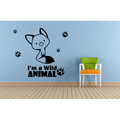 Cute Fox Wild Foxes Animal Jungle Zoo Wildlife Wall Sticker Art Decal for Girls Boys Room Bedroom Nursery Kindergarten House Fun Home Decor Stickers Wall Art Vinyl Decoration Size (30x30 inch)