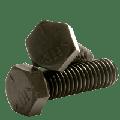 "Hex Cap Screw Grade 5, Steel, Finish: Plain, 9/16-18 x 2"", (QUANTITY: 25) Fine Thread (UNF), Fully Threaded, Diameter: 9/16""-18, Length: 2"""