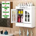 Brand New (15.3 x 6.8 x 17.3) inches Non-Perforated PVC Bathroom Wash Cabinet with Drawer Modern Storage Cabinet, Kitchen Cupboard, Entryway Storage Cabinet