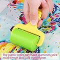 NK HOME 5D Diamond Painting Rollers Multifunctional Diamond Painting Cross Stitch Tool DIY Plastic Handheld Roller, Random Color, Set of 2
