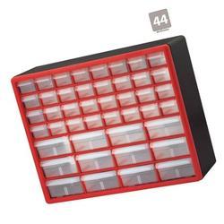 Akro-Mils 44 Drawer 10144REDBLK, Plastic Parts Storage Hardware and Craft Cab...