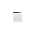 """CRL Z806W White Z-Series Square Type Flat Base Zinc Clamp for 1/4"""" and 5/16"""" Glass"""