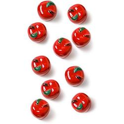 Ceramic Apple Cabinet Knobs, Kitchen Drawer Knobs, Country Decor - 5 Sets (10 Apple Pulls)