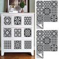 Goory Arabic Style Mosaic Tile Stickers For Living Room Kitchen Retro 3D Waterproof Mural Decal Bathroom Decor DIY Adhesive Wallpaper