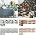 CUH 9-108 Packs Self Adhesive 3D Wall Stickers Wallpaper Brick Ceramic Tile Wall Stickers Panels Decals Removable
