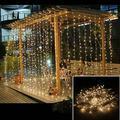 AGPtek 12Mx3M Linkable Fairy Lights StringsLights 8 Lighting Modes for Wedding Ceremony Christmas Party