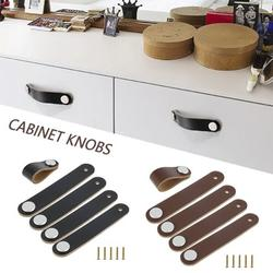 ZTOO Cabinet Handle Soft PU Leather Door Knobs Pull Screws Handle Furniture Hardware Cabinet Suitcase Dresser Drawer Hardware Kitchen Replacement Knobs