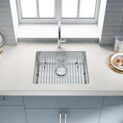 Starixs Trade Kitchen Sink 304 High Quality Stainless Steel Under Counter Kitchen Sink Modern Kitchen Sink, Concave Single Sink 23*18*9 Inch Stainless Steel Kitchen Sink and Accessories
