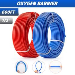 """1/2"""" PEX Pipes 2x300ft Tubing PEX-B Plumbing Tubes for Water and Floor Heating"""