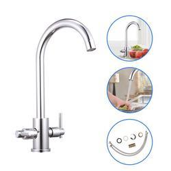 Onever Sink Mixer Taps Modern Sink Mixer Taps Kitchen Sink Mixer Taps Dual Lever Tap Mono Chrome Faucet