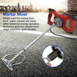 Knifun 6-Speed Electric HandHeld Mixer with Stainless Steel Beaters, 1500W Adjustable Electric Concrete Cement Mixer Thinset Mortar Grout Plaster Mxier Stirring Tool AC 110V