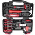 Haofy 38 Piece DIY Household Home Hand Tool Set Kit Box Hammer Pliers Scissors, Home Hand Tool Kit, DIY Home Hand Tool Kit