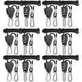 iPower GLROPEX6 6-Pair 1/8 Inch 8-Feet Long Heavy Duty Adjustable Rope Clip Hanger (150lbs Weight Capacity) Reinforced Metal Internal Gears