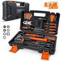 TACKLIFE 57-Piece Home Tool Kit - General Household Tool Set with Storage Case-HHK3A