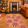 Tebru Room Stickers,12Pcs Floor Wall Stickers Removable Candy Decals Cartoon Home Xmas Christmas Decor,Candy Wall Stickers