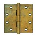 "Deltana DSB45RT 4-1/2"" Height X 4-1/2"" Width Square Corner Mortise Hinge Plain Bearing Rust"