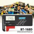 ANGGREK Button Cell Battery Volt Tester, Zaqw Universal Digital LCD AA/AAA/C/D/9V/1.5V Button Cell Battery Volt Tester BT-168D Battery Tester