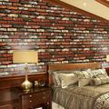 Taykoo PVC Brick Waterproof Wallpaper 3D Imitation Rock Stone Wall Paper Self-Adhesive