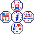 Fourth of July Decorations Gel Window Clings Stickers,4th of July Window Decal Decor for Glass Windows,Spring Festival Party Holiday Jelly July 4th Window Sticker for Kids for Home Door Refrigerators