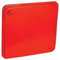Red 4 Inch Square Gasketed Flat Cover With Captivated 8-32 Box Screws