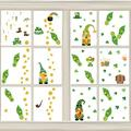 St. Patrick's Day Stickers, Leprechaun Footprints Shamrocks Gold Coin Window Cling Decoration,Happy St. Patrick's Day Party Supplies Decals for Classroom Floor Door Home Décor