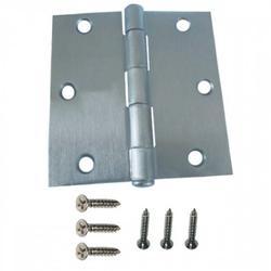 "50 PAIRS (100 PCS) Steel door hinge 3-1/2""Square corner,satin nickel,removable pin, door hinge and cabinet hinge, 100 PCs with screws"