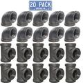 Brooklyn Pipe 1/2 Pipe Fitting Combo Pack - 10 Pipe Elbows, 10 Pipe Tees Furniture Grade 1/2 Inch Cast Iron Pipe Fittings, Tee and Elbow for Steampunk Shelf and Retro Furniture Project