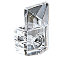 """CRL 803-XCP100 CRL 1/4"""" Square Beveled Clear Plastic Mirror Clip - pack of 100"""
