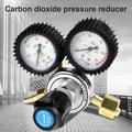 LYUMO G5/8 CO2 Regulator,CO2 Gas Bottle Regulator Carbon Dioxide Welding Pressure Reducer G5/8, CO2 Gas Bottle regulator