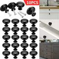 """TSV 10 PCS Round Mushroom Handle, Kitchen Cabinet Hardware Knob Handles, 1.14"""" Dia Round Cabinet Knobs Pulls, Furniture Handles and Pulls for Bathroom Cabinets Dresser Cupboards Drawers Shutters"""