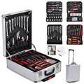 SEIWEI 799 PCS Hand Tool Set Mechanics Kit Wrench Socket Toolbox Castors Trolley Keys