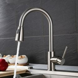 Bestgoods Kitchen Faucet, Kitchen Sink Faucet, Kitchen Faucets with Pull Down Sprayer, Faucets for Kitchen Sinks, Bar Kitchen Faucet, Single Lever, Brushed Nickel
