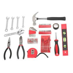 General Household Hand Tool Kit, YOFE 136 Pcs Home Tool Kit, Mechanics Hand Tool Set with Tool Case, Auto Mechanics Tool Kit, Home Repair Basic Tool Kit Sets for Home Maintenance, Red/Black, R3658