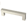 """Liberty P41847C-SS Modern Square Bar Pull 3 3/4"""" Stainless Steel Drawer Pull"""