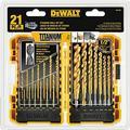 DEWALT Titanium Drill Bit Set, Pilot Point, 21-Piece (DW1361)