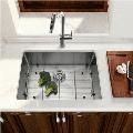 """17-inch Undermount 16 Gauge R10 Radius Stainless Steel Kitchen Sink Single Bowl - 100% Handmade Kitchen Sink Bowl, 17""""x19""""x10"""""""