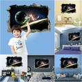 3D Broken Wall Series Space Pattern Removable Self-adhesive Wall Sticker Wall Art Home Decoration